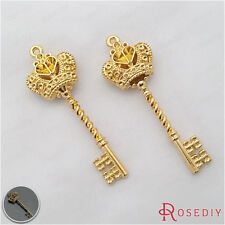 10PCS 59*20MM Zinc Alloy Crown key Pendants Jewelry Findings Accessories 27214