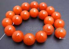 SALE Big 20mm China Red Round natural jade Loose Beads strand 15'' -los692