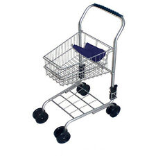 Kids Metal Shopping Trolley Silver or Red - Pretend Play Supermarket Cart