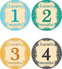 Personalised Monthly Baby Stickers, Milestone Stickers, Baby Shower Gift_B026