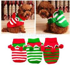 Pet Cat Dog Puppy Christmas Clothes Knitted Sweater Coat Hoodie Holiday Apparel