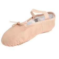 Pig Leather Elastic Strap Soft Girls Women's Ballet Slippers Shoes Pink