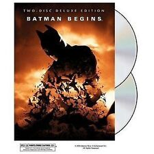 Batman Begins, Two Disc Deluxe Edition, Hologram Cover, Excellent DVD, ,