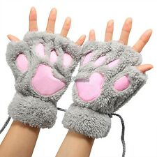 5 Colors Fingerless Women Gloves Plush Claw Design One Size Cute Winter WT88