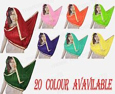 Belly Dance Costume Chiffon Big Veil Gold Trim 20 Colors Indian face veil 2.50mt