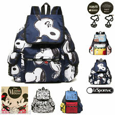LeSportsac Voyager Backpack Minnie Mouse, Snoopy, Mika's Utopia,Peter Jensen NWT