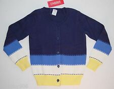 NWT Gymboree Flower Showers XS S Sweater 3-4 5-6 navy blue colorblock cardigan