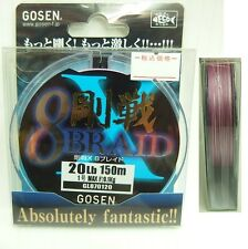 GOSEN - X 8 BRAID GL8701 20 to 30lbs 3 variation 150m/165yds 217