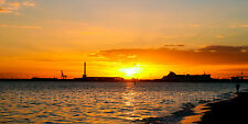 Panoramic Sunset Melbourne Australia - Choose Canvas Print, Poster or Decal
