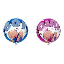 Round Girl Boy Print Foil Balloon for Baby Shower Crafts Party Decoration Globos