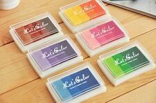 Craft Multi Coloured Ink Pad for Paper Wood Fabric for Rubber Stamps CN