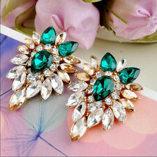 Women Elegant  Earrings Jewelry Lady Ear Stud Crystal Rhinestone Girls