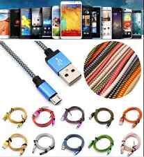 1/2/3m Braided Micro USB 3.0 Data Sync Charger Cable For Samsung Galaxy S5 Note3