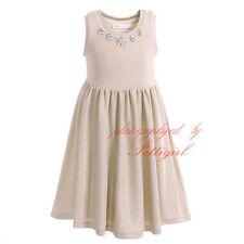 Fashion Girls Dress Toddler Kids Princess Crystal Cotton Summer Holiday Party