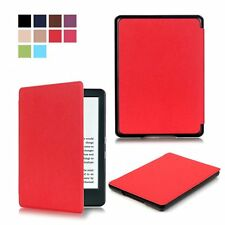 Red Thin Pu Leather Case Cover Slim Light for New Amazon Kindle (8th Gen. 2016)