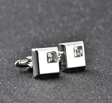 Wedding Gift Men's Crystal Square Cuff Vintage Links