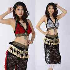 HJ2660# Belly Dance Costume Tribal Lace ( Top, Hip Scarf ) 3 Colors
