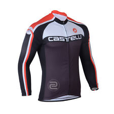 New Cycling Bike Jersey Long Sleeve Clothing Bicycle Long Top Quick Dry Black