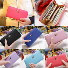 Women Fashion Lady Long Card Holder Case Leather Clutch Wallet Purse Handbag CHI