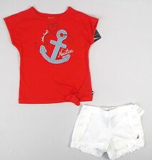 Nautica Girls' set, 2-Piece Tee & Shorts Set sizes 3, 5