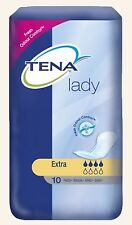 TENA Lady Extra Towels - 6 x Packs of 10 ( 60 Towels )