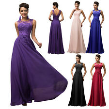 Long Chiffon WEDDING Bridesmaid Party Cocktail Evening Ball Prom Dress PLUS SIZE