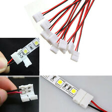 Single Color 10Pcs PCB Cable 2 Pin LED Strip Connector 3528/5050 Adapter Useful