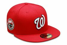 New Era Washington Nationals Fitted Hat All Red/White/2008 Inaugural Season