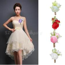 New Bridal Corsage Bridesmaid Wedding Flower Boutonniere Prom Party Brooches