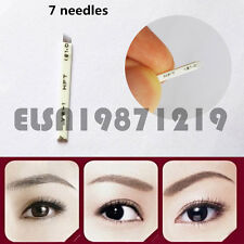 50/100 PCS Microblading Permanent Makeup Eyebrow Tattoo Manual Blade 7 Needles