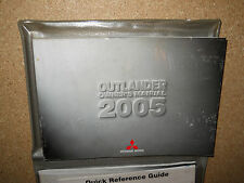 2005 MITSUBISHI OUTLANDER OWNERS MANUAL AND CASE COMPLETE WITH EXTRA LITERATURE