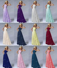 New One-Shoulder Long Evening Party Cocktail Dress Bridesmaid Prom Ball Gowns