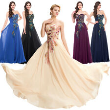 Formal Long Bridesmaid Evening Cocktail Prom Party Ball Gown Masquerade Dress