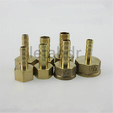 """5/10pc Female 6mm to 1/8"""" 1/4"""" 3/8"""" 1/2"""" BSP Barb Hose Pneumatic Brass Connector"""