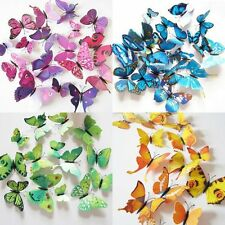 12pcs 3D Butterfly Wall Stickers Art Design Decal Room Decoration Home Decor Set