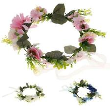 Phenovo Flower Garland Crown Wedding Bridal Forehead Hair Band Accessories