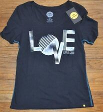 Life is Good Short Sleeve Fitted Top  T-Shirt LOVE  Authentic LIFE IS GOOD Tee