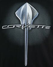 Chevy Corvette Stingray Emblem Logo T-shirt - C7 Chevrolet - 100% Cotton Black