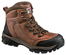 Avenger Mens Composite Toe EH Waterproof Hiker M Brown Leather Boots