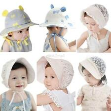 Toddler Baby Girls Boys Outdoor Hat Cap Soft Bonnet Bucket Hats for 0-3 Years