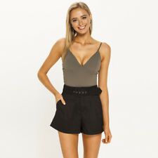 New Mooloola Allure Belted Shorts in Black | Womens Shorts