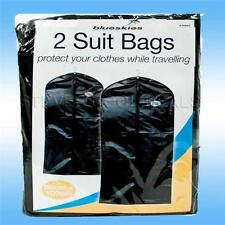 2x Travel Suit bags storage covers Light weight protect clothes garments jackets