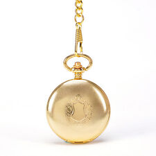 Mechanical Automatic Self Wind Gold Shield Pocket Watch W/Chain Mens Suits Watch
