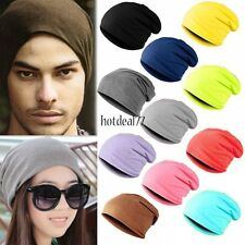 Men Women Unisex Solid Slouchy Hip-hop Cap Beanie Hat Beany Warm 9 Colors 8HOT