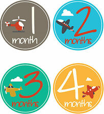 Personalised Monthly Baby Stickers, Milestone Stickers, Baby Shower Gift_B020