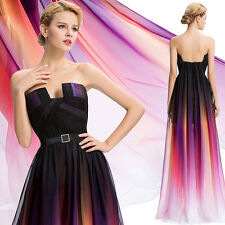 New Gradient Long Chiffon Formal Evening Prom Party Ball Gown Bridesmaid Dress