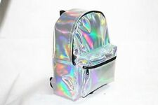 Fashion New Womens Girls Hologram Holographic PVC School Backpack Bag Bookbag