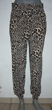 Harem pants LEOPARD Leo Look Baggy trousers Summer Stretch Pats Leggings to XL