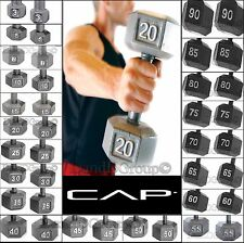 CAP Barbell Dumbbells Cast Iron PAIR Set of 2 Hex Fitness Weight Gym Workout NEW