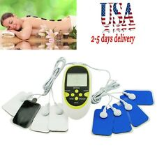 US Seller Digital Therapy Machine Pulse Full Body Acupuncture Massager 8 Pads AA